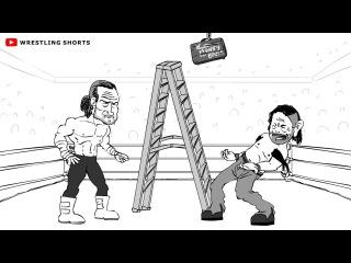 #My1 Money in the Bank Ladder Match Cartoon Parody
