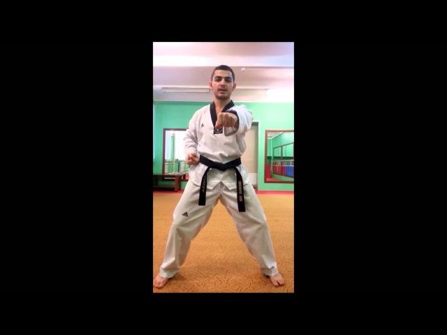 Taekwondo WTF Удары руками Монтон Чириги Ту Бон Чириги Се Бон Чириги
