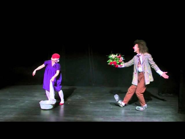 Ученики театра Лицедеи, клоун-мим-театр МИМЕЛАНЖ, отрывок номера БУКЕТ