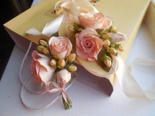 Бутоньерка для невесты, сборка 6 часть мастер класса.