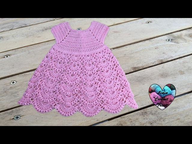 Robe princesse crochet toutes tailles 1/2 / Princess dress crochet all sizes (english subtitles)