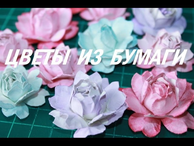 Скрапбукинг Цветы из бумаги