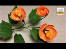 How to make vein Indian mallow paper flower diy paper flower making easy