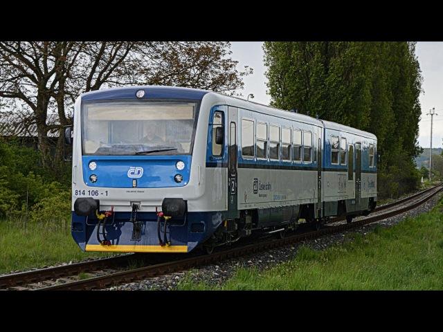 Regionova 814 106 1 v Najbrt nátěru modrém nátěru na traťi 064
