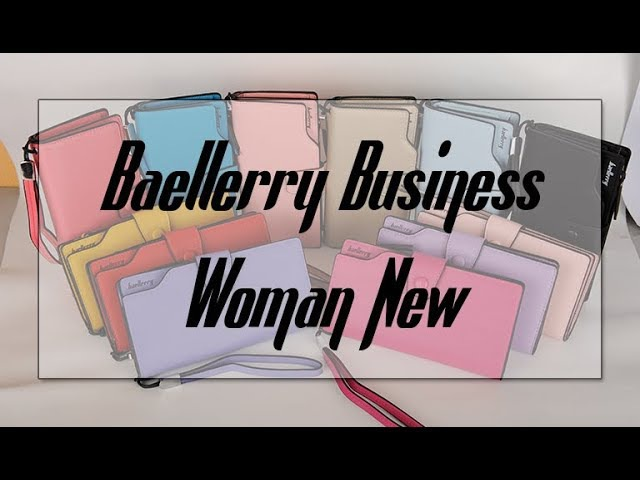 Обзор Baellerry Business Woman New - все цвета популярного женского портмоне.