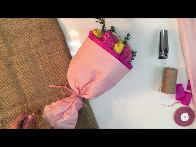 Как оригинально упаковать букет цветов How to wrap a bouquet of flowers ArtHolidays