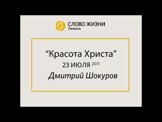 Красота Христа Проповедь Дмитрия Шокурова Слово Жизни Тюмень 20 08 2017