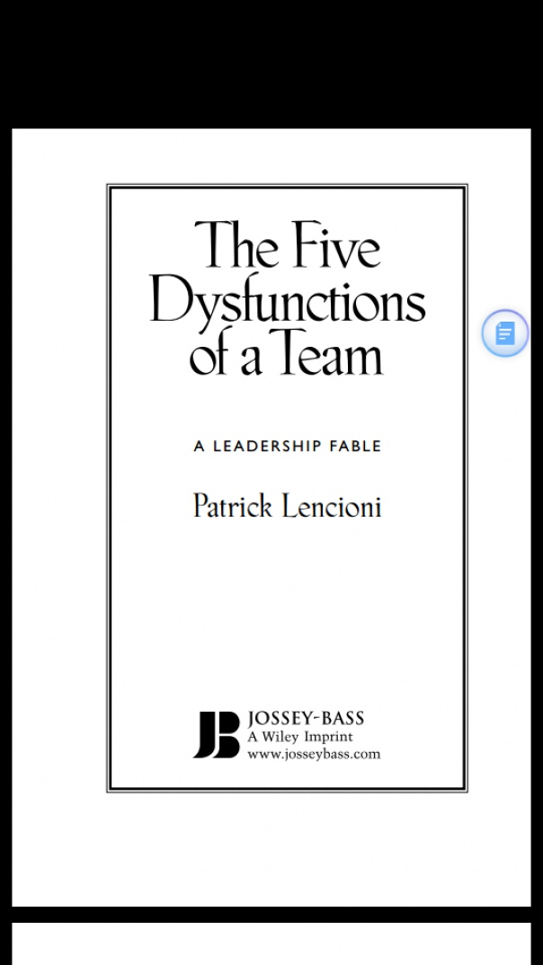 The Five dysfunctions of a team eng