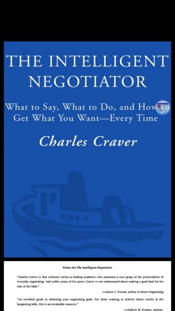 the intelligent negotiator what