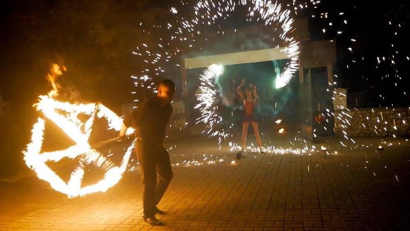 Вогняне шоу Семаргл (Тернопіль) на весіллі Руслана та Ірини ресторан Хутір