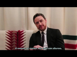 James McAvoy and his tale about broken hand (рус.суб)