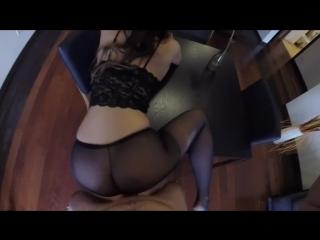 Sexy milf claudia fucked in black pantyhose