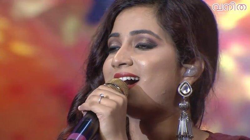 Shreya Ghoshal Singing Hindi Tamil Malayalam Single Take Vanitha Awards