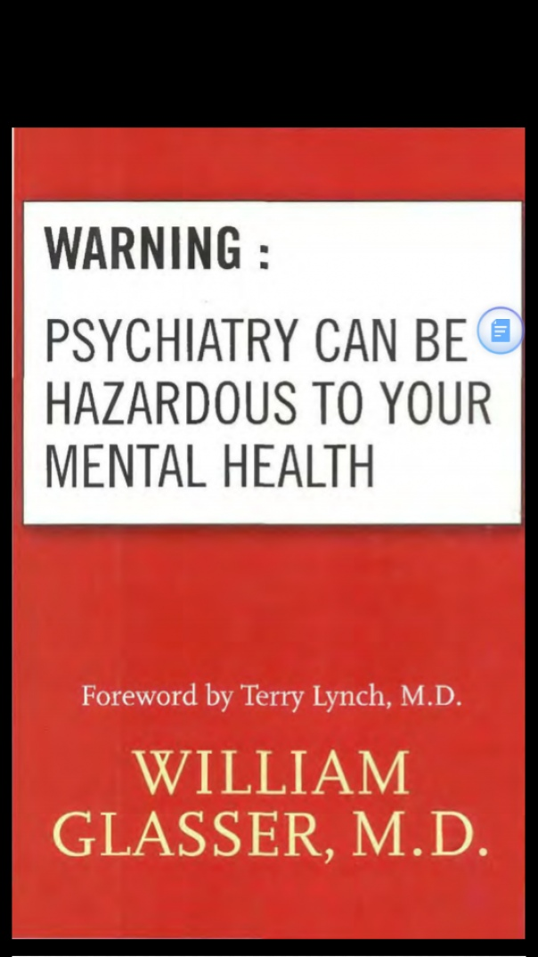 Book cover Warning Psychiatry Can Be Hazardous to your mental health