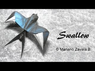 Origami Swallow (Tutorial) - Mariano Zavala B. 折り 紙  つばめ GOLONDRINA оригами ЛАСТОЧКА