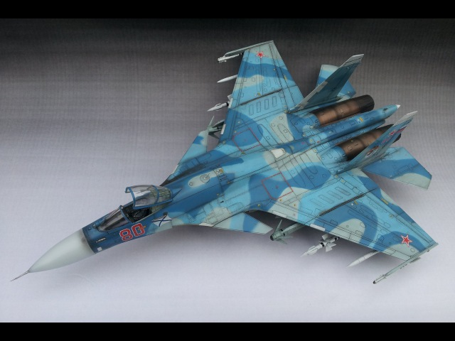 Trumpeter Sukhoi Su-33 (Cy-33) Flanker D 172 | The Inner Nerd