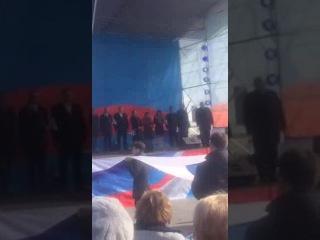 Фикрет Меметов на праздновании Дня единства в Ялте