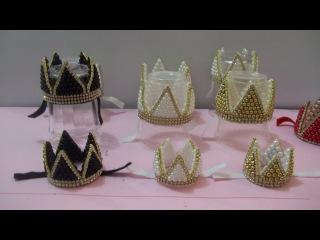 Coroa de pérolas com stras. Coroa Real ou coroa de cinco pontas. I PARTE