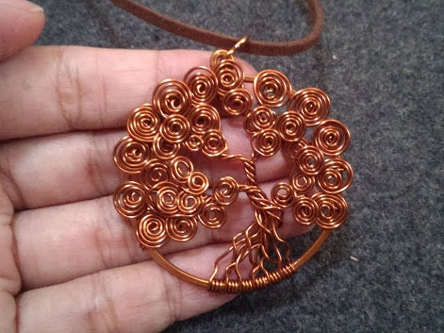Tree of Life have twist round leaves pendant Handmade jewelry 53