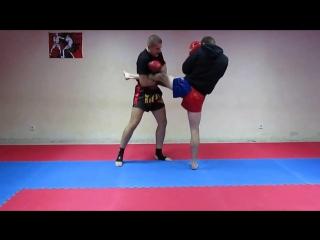 Тайский бокс основы - защита от классической комбинации