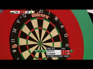 Mark Webster (Wales) vs William O'Connor (Ireland) (PDC World Cup of Darts 2017 / Round 2)