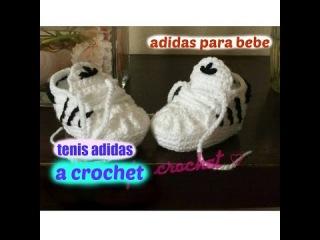 Tenis Adidas a Crochet Para Bebe  (nuevo video)