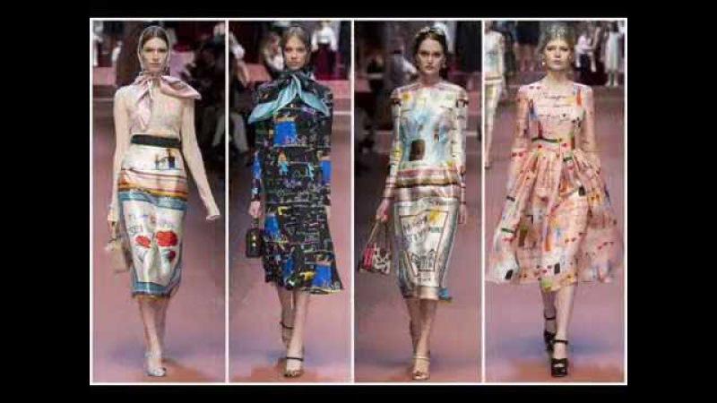 Стильная мамочка Коллекция осень зима 2015 2016 Dolce Gabbana