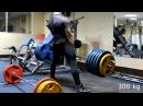 Deadlift 300 kg (661,5 lbs) x 3 reps, 315 (694,5 lbs) kg x 1 @ 93 kg (205 lbs) b w, 19 y.o.