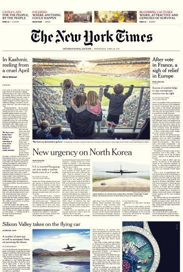 International New York Times - 26 April 2017 (1)
