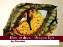 Drawing Realistic Dragon Eye /Tutorial/Smaug inspired/with Charcoal Pencils