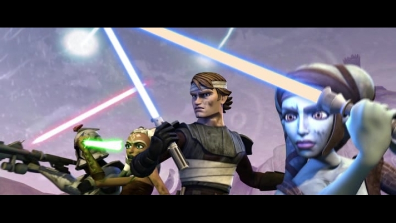 Star Wars The Clone Wars - Ahsoka, Anakin Aayla vs. Separatist droid army