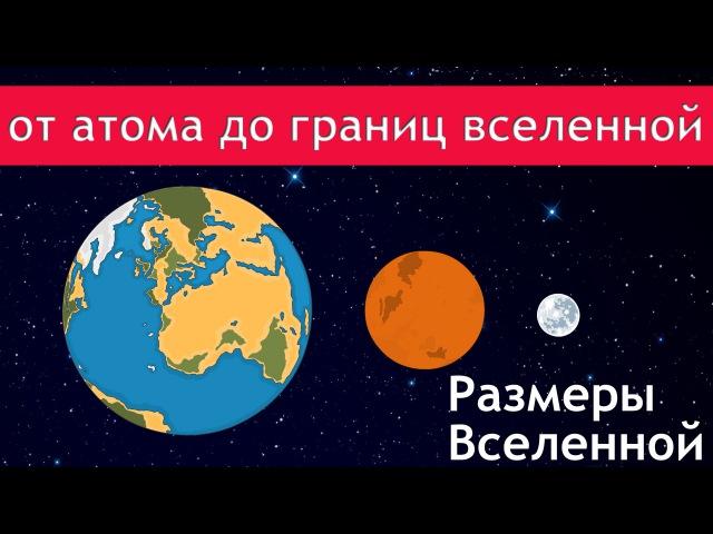 Размеры вселенной (от молекулы до границ вселенной)почувствуй себя букашкой)