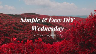 Simple and easy DIY crepe paper flower Wednesday - Simple red mini daisy