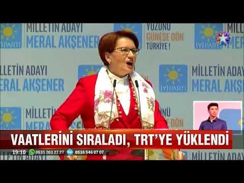 Meral Akşener seçim beyannamesini açıkladı vaatlerini sıralayıp TRT'ye yüklendi