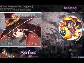 Ayane - Senpuu no Mai Ten Hard + HR + Not fail + Perfect + S94,76%
