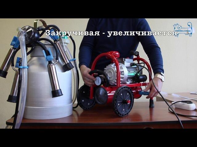 Доильный аппарат Буренка 1 макси РАБОТА