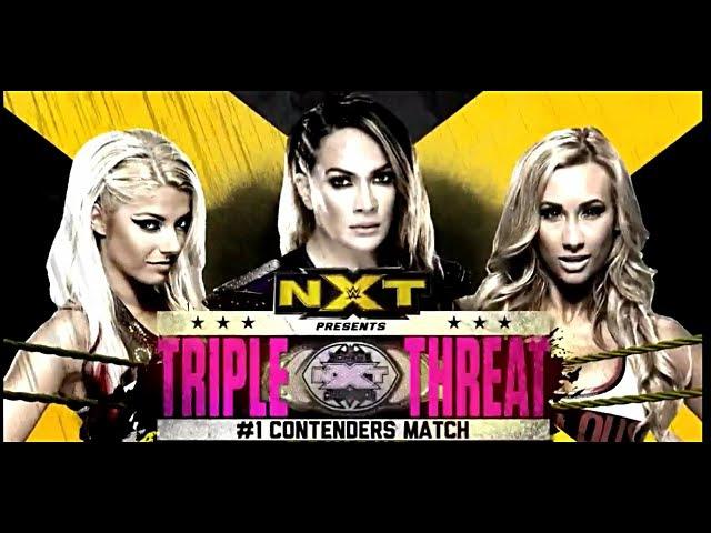 Video@alexablissdaily May 18 2016: NXT s Alexa Bliss vs Carmella vs Nia Jax Triple Threat Match NXT Women s Champion 1 Contender