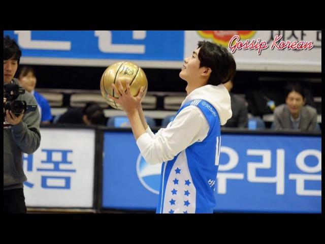 171101 Park Hyung Sik 박형식 at Asan Woori Bank Wibee Basketball Game Opening