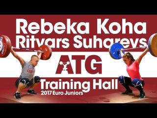 Rebeka Koha & Ritvars Suharevs 🇱🇻 Training Hall 2017 European Juniors
