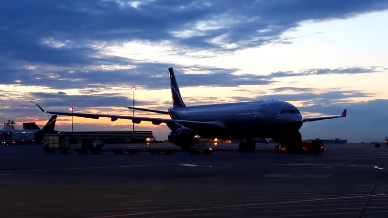 Взлет из Шереметьево Boeing 767-300ER Pegas Fly
