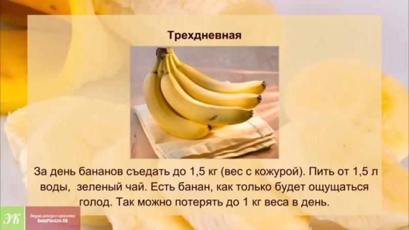 Банановая Диета Неделя. Банановая диета