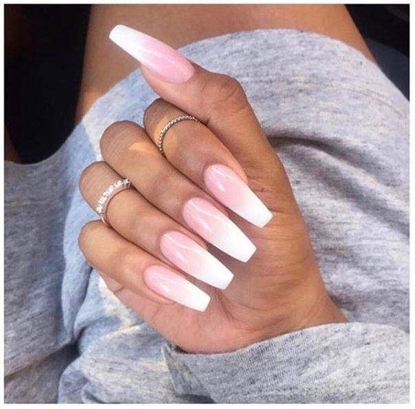 pink and white ombre nails - HD1080×1080