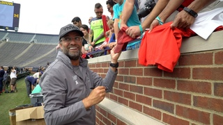 Listen Up Close With Klopp And Players!   Training in Michigan Stadium