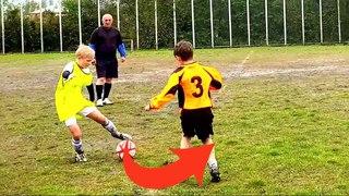 НЕРЕАЛЬНАЯ СКОРОСТЬ ФИНТОВ НА ГРЯЗЕВОМ ФУТБОЛЬНОМ ПОЛЕ  Unreal speed of SKILLS on soccer field