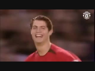 """Первый гол Криштиану Роналду за """"Манчестер Юнайтед"""""""