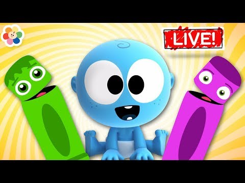 Colors for Children To Learn with Magical Crayons GooGoo Baby Color Friends Live Stream