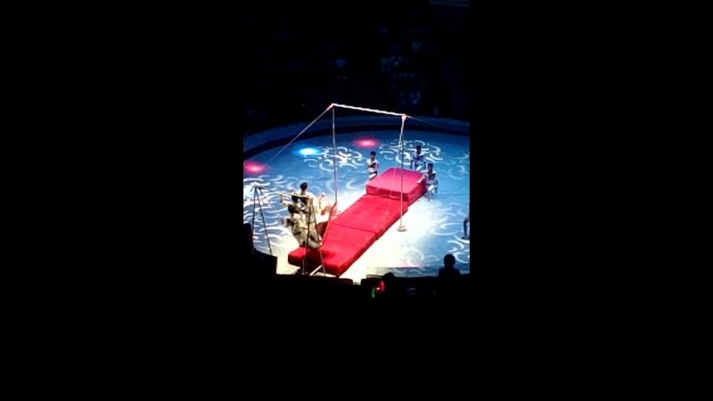 Акробаты на качелях с турником отрывок КНДР