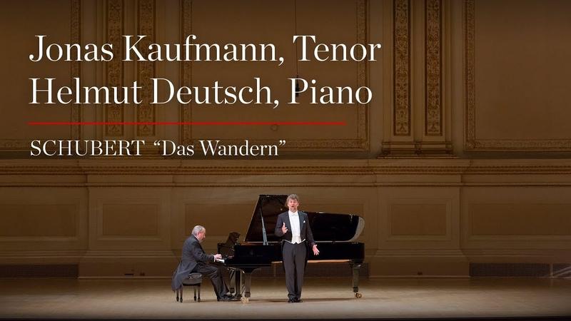 """Jonas Kaufmann Sings Schubert's Das Wandern"""""""