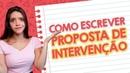 COMO ESCREVER UMA BOA PROPOSTA DE INTERVENÇÃO NA REDAÇÃO DO ENEM - Débora Aladim