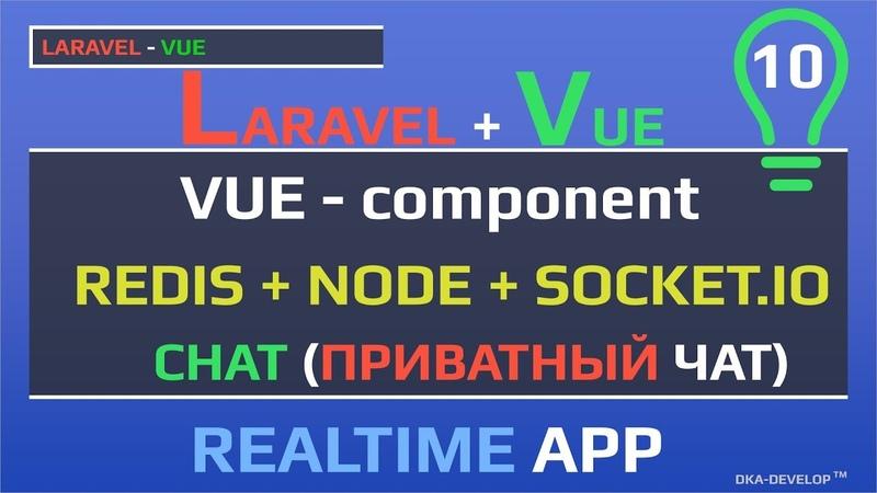 Уроки Laravel Vue приватный чат, адресная рассылка | Realtime | Redis Node и Socket.IO | Websocket
